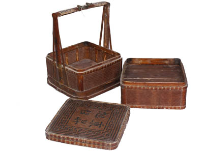 Bamboo basket chinese reproduction furniture chinese for Reproduction oriental furniture