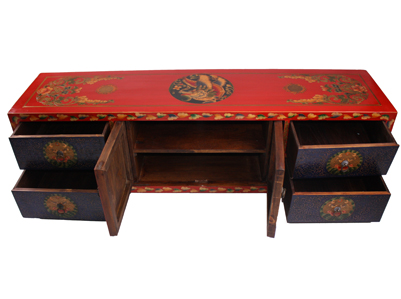 Tibetan tv cabinet chinese reproduction furniture for Reproduction oriental furniture